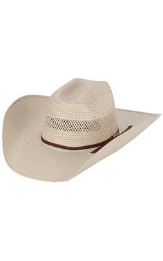 M   F 10X Shantung Tan   Ivory Two-Tone Straw Cowboy Hat 40924fbed8a