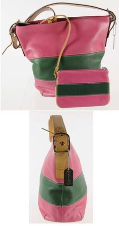 Pink and green leather purse Aka Sorority, Alpha Kappa Alpha Sorority, Sorority Life, Pink Love, Pretty In Pink, Pink And Green Dress, Unique Handbags, Green Purse, Girl Swag