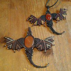 #macramé #handmade #collier # dragon #boho #bohemian #bohemestyles #gipsystyle #gipsy #gipsylife