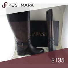 Ralph Lauren Maryann Riding Boots These boots are perfectly gorgeous. If you're a fan Ralph Lauren; you know that his taste, quality & fashion has always been unique, precise & an everlasting tradition. 100% Authentic. They're crafted with leather, fabric, & synthetic. The closure is side zipper. Ralph Lauren Shoes Winter & Rain Boots