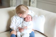 Princess Charlotte's First Official Portraits - New mom of two Kate Middleton was behind the lens snapping these sweet first photos of Charlotte with her brother.