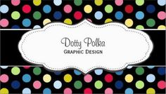 Cute and Colorful Rainbow Polka Dot Pattern Graphic Design Business Cards http://www.zazzle.com/colorful_polka_dot_business_cards-240546742622092426?rf=238835258815790439&tc=GBCPattern2Pin Cute multicolored polka dot business cards with a black background and a white scalloped edged name card. Personalize these rainbow dot pattern profile cards with your own occupation.