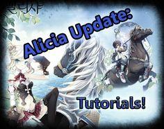 Alicia online - Update  Quick look at tutorials