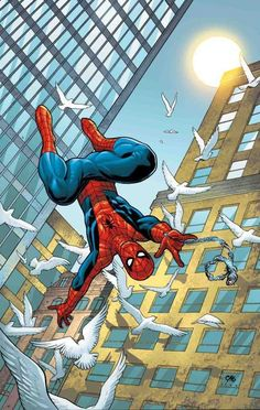 Amazing Spiderman by Frank Cho Marvel Comics, Comics Anime, Marvel Art, Marvel Heroes, Comic Book Artists, Comic Book Characters, Comic Artist, Marvel Characters, Comic Books Art
