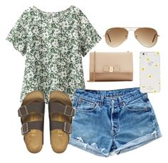 """""""Sorry for not posting lately"""" by tori-ayleen13 ❤ liked on Polyvore featuring Uniqlo, Levi's, Birkenstock, Ray-Ban, Salvatore Ferragamo and Kate Spade"""