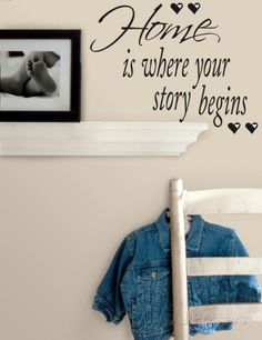 Home is Where Your Story Begins Peel & Stick Quotable Vinilos decorativos