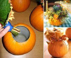 1380786_523637697710312_1719353555_n.jpg 875×720 pixels Pumpkin Vase, Pumpkin Flower, Diy Pumpkin, Pumpkin Ideas, Pumpkin Planter, Pumpkin Candles, Pumpkin Crafts, Pumpkin Display, Pumpkin Bouquet