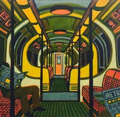 Gail Brodholt's Metroland Illustrations, Illustration Art, Gcse Art Sketchbook, A Level Art, Oui Oui, Linocut Prints, Aesthetic Art, Love Art, New Art