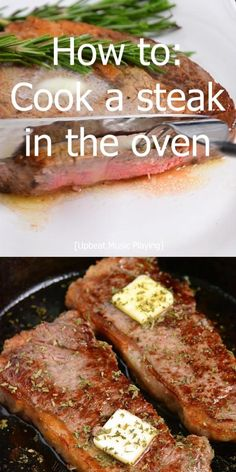How To Cook Steaks In The Oven. Making steak in the oven is quick and easy, no grill needed. Just choose your favorite steak, season it simply with salt and pepper, sear in a skillet, and move into the oven to finish. #steak #beef #easydinner
