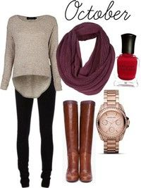 Fall Outfit  Like the outfits, but would loose the assesery and shoes, would pair with heels, wedges or sneaker wedges