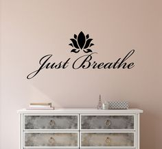 Vinyl Wall Decal Stickers Motivation Quote Yoga Relaxing Words Inspiring Breathe Letters in x 10 in) Wall Stickers Murals, Wall Decal Sticker, Vinyl Decals, Wall Stickers Yoga, Good Day Song, Design Seeds, Love Stickers, Removable Wall, Custom Wall