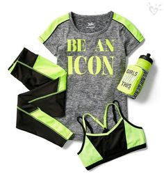 Keep her on-the-go in style with cute & durable girls' sportswear when you shop Justice. From practice to gym class, she'll love our girls' sports clothes. Sporty Outfits, Athletic Outfits, Athletic Wear, Kids Outfits, Cool Outfits, Girls Sports Clothes, Girls Fashion Clothes, Tween Fashion, Fashion Outfits