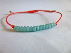 Faceted Rondelle Amazonite Stackable Beaded Braclelet
