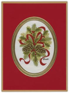 Charming Pinecones Tapestry Holiday Cards
