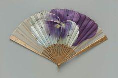 Fan with art by Grace EA Ford 1885-1910
