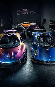 Luxury Cars : Illustration Description Mc Laren P1, Pagani Zonda, Bugatti Veyron and Porsche Carrera GT #PaganiZonda