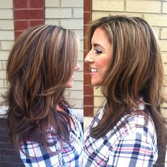Shelby's highlights had taken over her head, so we added a bunch of lowlights & some shimmery light pieces to bring more variety of color! Brown Hair With Highlights And Lowlights, Hair Highlights, Hair Streaks, Color Highlights, Loose Waves Hair, Dark Blonde Hair, Hair Color And Cut, Pretty Hairstyles, Hairstyle Ideas