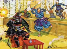 """""""Tsuruhime takes part in naval fighting, 1541"""""""