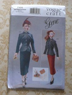 GENE Doll 40's Style Day Wear Clothes Sewing Pattern