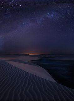Starlight Dunes Lencois Maranhenses Sand Brazil Night Time Amazing Nature