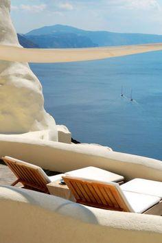 All 22 rooms have balconies and sea views. #Jetsetter Mystique Santorini (Santorini, Greece)
