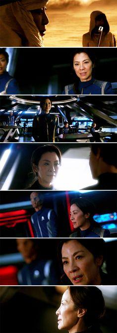 Starfleet doesn't fire first. Discovery 2017, Star Trek Convention, Star Trek 2009, Star Trek Beyond, Tv Show Games, Star Trek Movies, Isaac Asimov, Warrior Women, Geek Chic