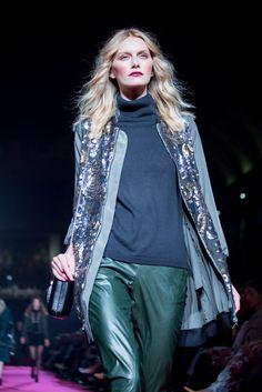 Cabedal e padrões. #Moda #Desfile #Festa #Inverno #ElCorteInglés
