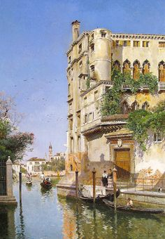 """Campo Federico Del - Rio St. Trovaso Venice  (from <a href=""""http://www.oldpainters.org/picture.php?/50664/category/16625""""></a>)"""