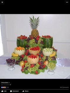 Fruit Tables, Fruit Buffet, Buffet Tables, Deco Fruit, Fruit Creations, Party Platters, Fruit Platters, Cheese Platters, Party Buffet
