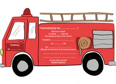 Eine schöne Einladung für den Feuerwehr Kindergeburtstag. Hier bekommst du nicht…