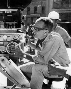 "Sam Peckinpah on the set of ""The Wild Bunch"" 1969."