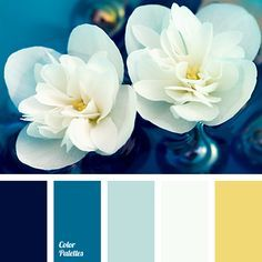 The combination of dark blue range of shades (from blue-black to very pale blue) and golden-beige colour makes a harmonious palette that can be used to des.