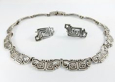 Vintage Margot De Taxco Mexico Sterling Silver Necklace by Objeks