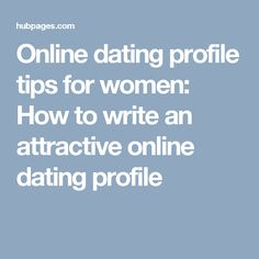 writing your profile