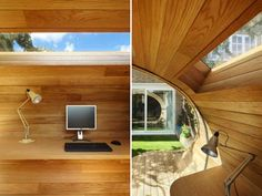 Modern Backyard Office Shaped Like a Cresting Wave - My Modern Metropolis