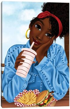 Black Love Art, Black Girl Art, Black Is Beautiful, Black Girl Magic, Art Girl, Black Girl Cartoon, Black Artwork, Afro Art, Magic Art