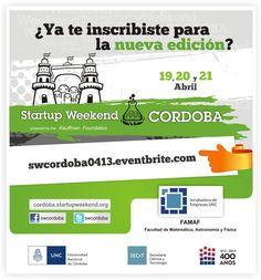 Ya podés inscribirte...  swcordoba0413.eventbrite.com