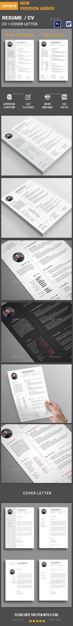 Resume Template, Resume cv and Cv resume template