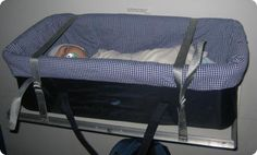 Airline Baby Cot :: traveling with baby. This is sometimes provided by airline for international flights.