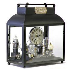 Clock in Glass Box, 14″high x 12″ wide x 7″ deep