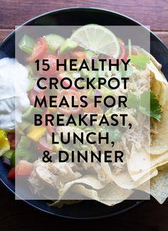 15 Healthy Crockpot Recipes | eat happy