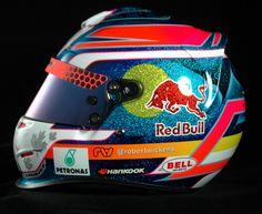 Robert Wicken`s karting helmet