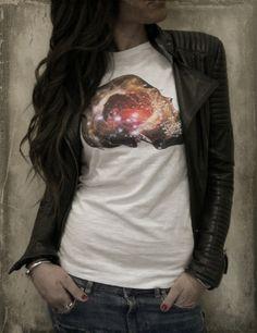 "GALAXY SKULL! Must have by ""Babirusa fashion concept"" - #tshirt #space #stars #galaxy #fashion #streetwear #fashionable #skull - http://www.babirusa.it/products/galaxy-skull"