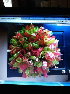 Curly mesh wreath