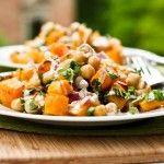 Roast Vegetable Chickpea Salad