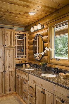 Bathroom Log Cabin Design Pictures Remodel Decor And Ideas Page