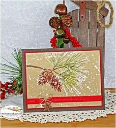 Stampin Up Ornamental Pine