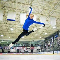 Gracie Gold in flight …
