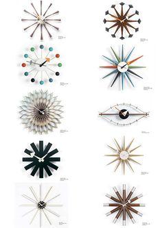 George Nelson clocks (1948-1960) via Picasa Web Albums