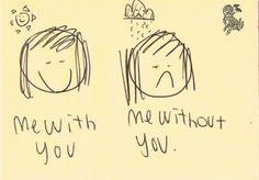 Tengo el Sol de tu sonrisa y no preciso más.
